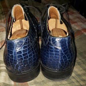 Mezlan Platinum Baby Alligator shoes